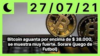 Bitcoin aguanta por encima de $ 38.000, se muestra muy fuerte. Sorare (juego de Futbol)