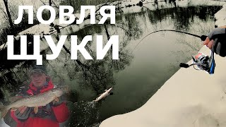 Ловля щуки на джиг ранней весной Рыбалка на малы реках Разловил новинку Bait Breath E T Shad