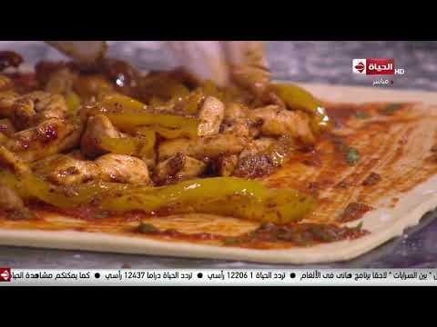 """صورة  طريقة عمل البيتزا المطبخ - طريقة عمل """"بيتزا ساندوتش بالفراخ"""" مع الشيف أسماء مسلم طريقة عمل البيتزا بالفراخ من يوتيوب"""