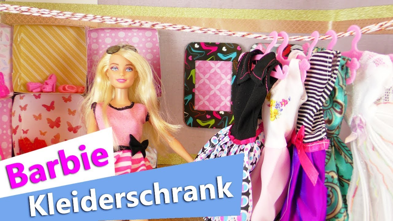barbie kleiderschrank selber machen begehbarer schrank. Black Bedroom Furniture Sets. Home Design Ideas