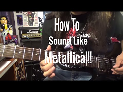 Metallica Guitar Lesson. How To Sound With Amp & Pedal-Beginner Guitar Tutorial