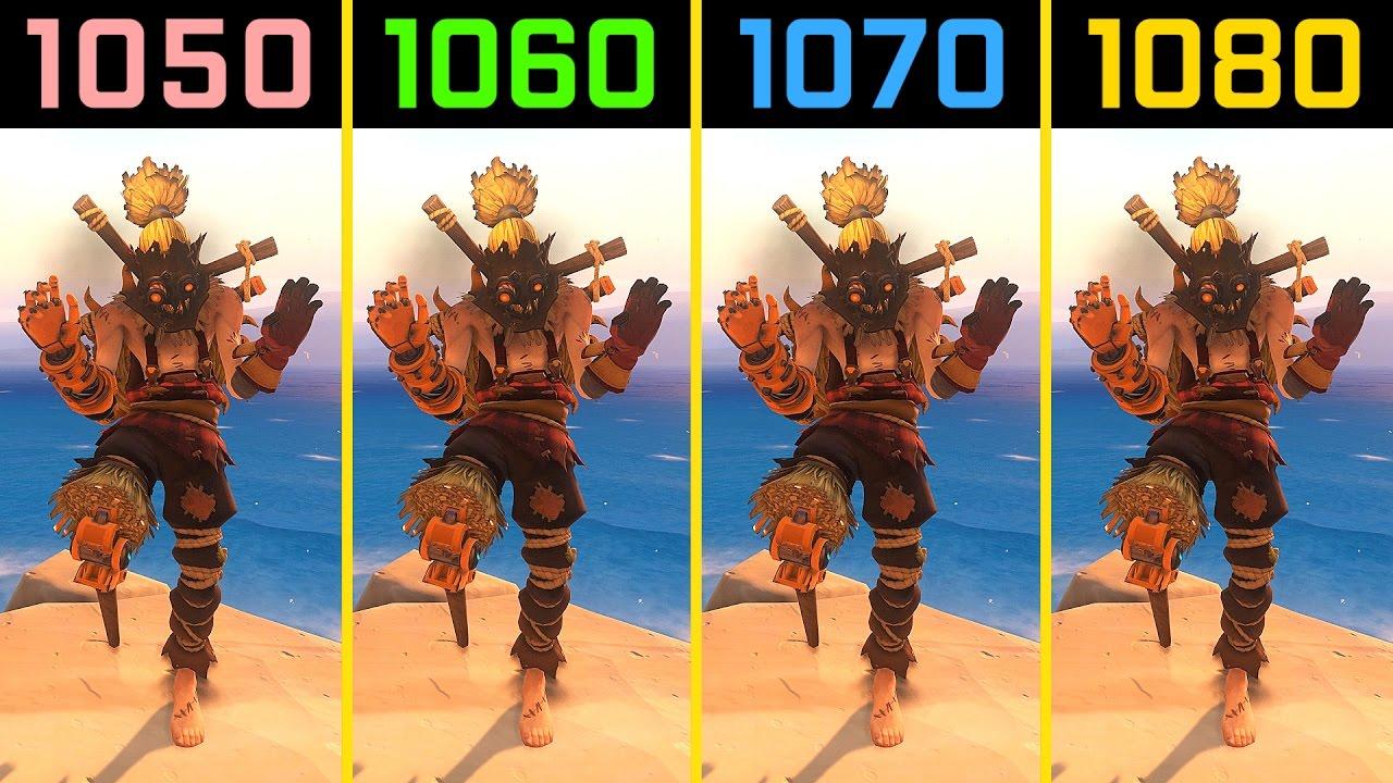 Overwatch GTX 1050 Ti vs  GTX 1060 vs  GTX 1070 vs  GTX 1080