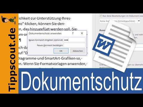 Word: Schreibschutz Für Dokument Aktivieren