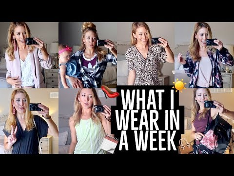 WHAT I WEAR IN A WEEK 👠👜 | 7 DAYS OF CUTE MOM OUTFIT IDEAS + GIVEAWAY | Brianna K  + Style Mom XO