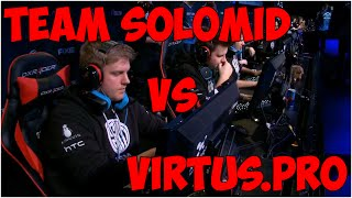 #2 Virtus.Pro vs Team SoloMid последние раунды и овертаймы. ТОП КАМБЕК!