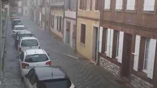 Inondations : un violent orage s'abat sur Villefranche-de-Lauragais
