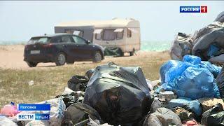 Крымские пляжи утопают в мусоре