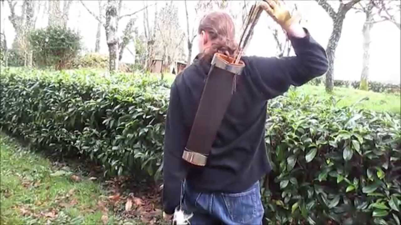 Archery fabrication carquois dorsal youtube - Fabriquer un chandelier en carton ...