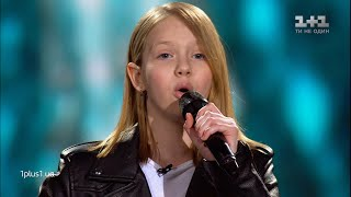 "Varvara Koshova - ""Fall In Line"" - Blind Audition - Voice.Kids - season 5"