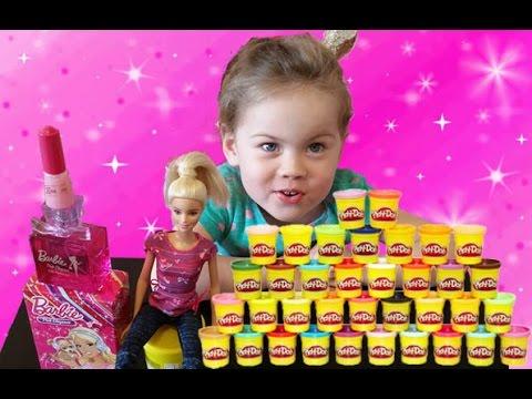 ДЕЛАЕМ НОГТИ из Play Doh Плей До, косметика для детей барби, косметика принцесса
