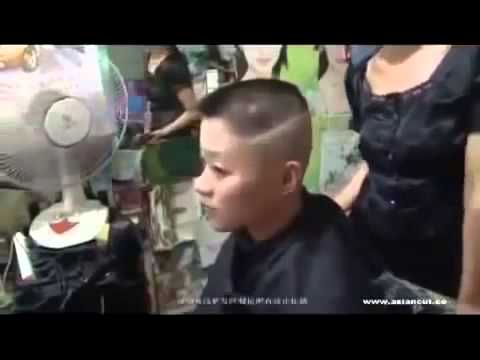 Haircut Style Short Hair Army Girl Gets A Flaptop Headshave In