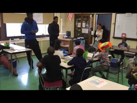 UB Men's Basketball Visits Westminster Community Charter School
