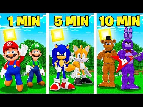 Minecraft SÓ que a cada 5 minutos VIRAMOS um JOGO!