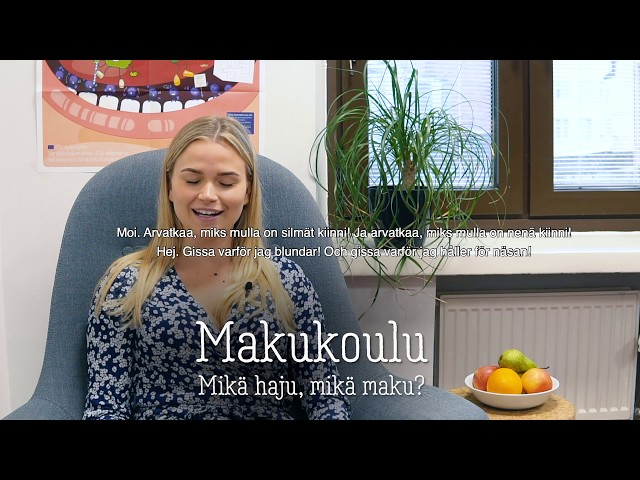Thumbnail of video called Makukoulu: mikä haju, mikä maku?