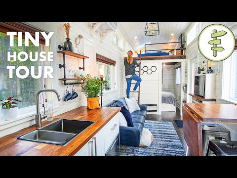 EXTRA LARGE Tiny House with Main Floor Bedroom & Smart Functional Design