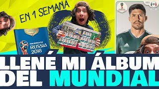 LLENÉ EL ÁLBUM DEL MUNDIAL EN 1 SEMANA |PAQUITO