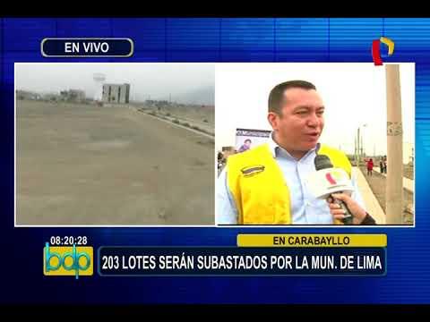 Municipalidad de Lima subastará 203 terrenos en cinco distritos