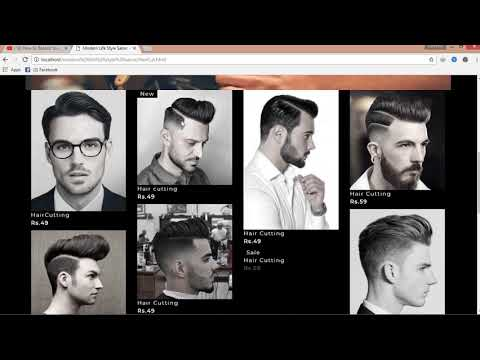 HTML, Css & JavaScript Web Page Design For Modern Life Style Salon