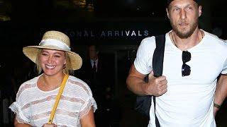 Hilary Duff Glowing With Boyfriend Jason Walsh At LAX