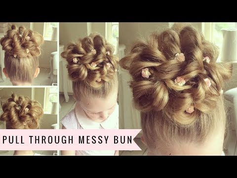 Pull Through Messy Bun by SweetHearts Hair Design - YouTube