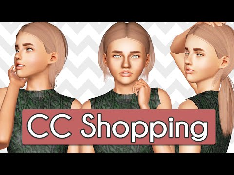 Sims 3 Custom Content Shopping: HAIR & CLOTHES! ♥