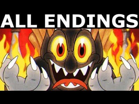 Cuphead ALL ENDINGS - Join The Devil Or Refuse The Devil's Offer (Bad & Good Ending + Final Boss)