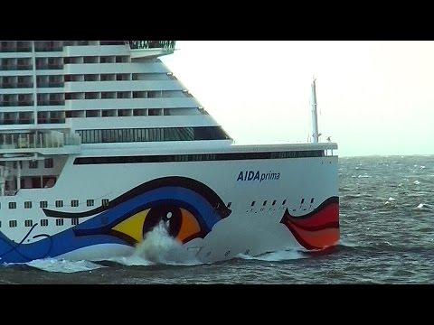 AIDAprima -Testfahrt auf der Nordsee 2016
