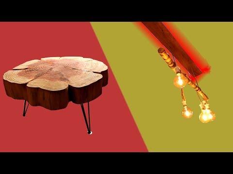 5 DESIGNERMÖBEL zum SELBER BAUEN | Couchtisch, Lampe, Regal, Bett DIY