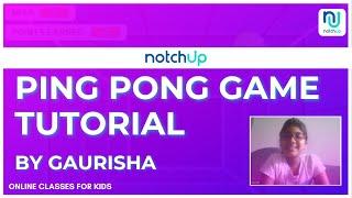 Scratch Game Development Showcase | Ping Pong Game | By Gaurisha