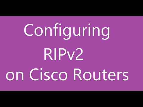 RIPv2 - Basic configuration of Routing information Protocol