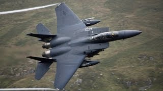 "🇺🇸 Great Sounding F-15 Eagles Flying In Wales "" The Sound Of The USA """