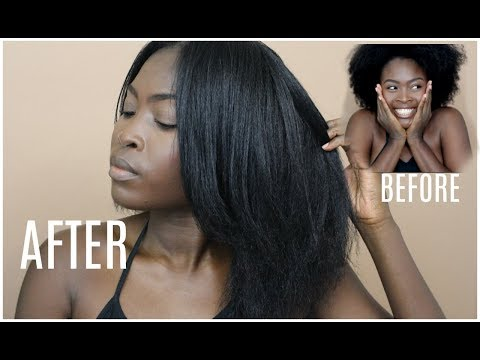 STRAIGHTENING MY NATURAL HAIR FOR THE FIRST TIME IN 2 YEARS! 😱|| TYPE 4 HAIR