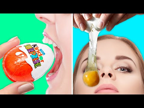 30 UNEXPECTED FOOD TRICKS TO HAVE FUN WITH!