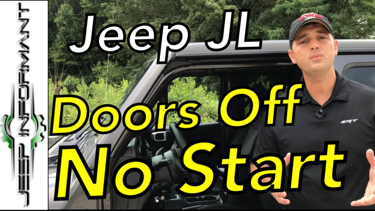 No Start Jeep Jl Key Fob Not Detected With Door Off Youtube