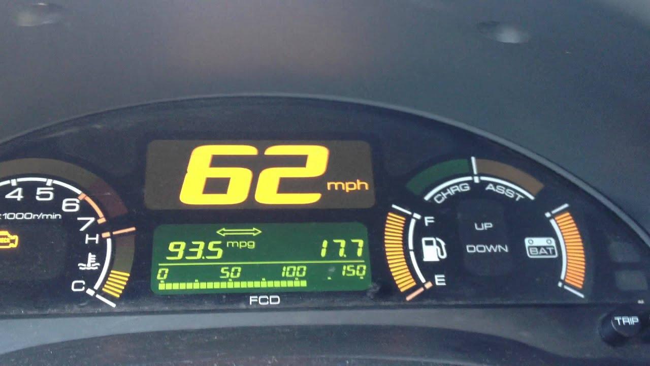 2000 Honda Insight Hypermiling I 40 In Central Arkansas 93 Mpg For 20 Miles At 62 Mph