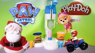 PAW PATROL Nickelodeon Paw Patrol Visit Santa Claus Play Doh Ice Factory a Paw Patrol Video