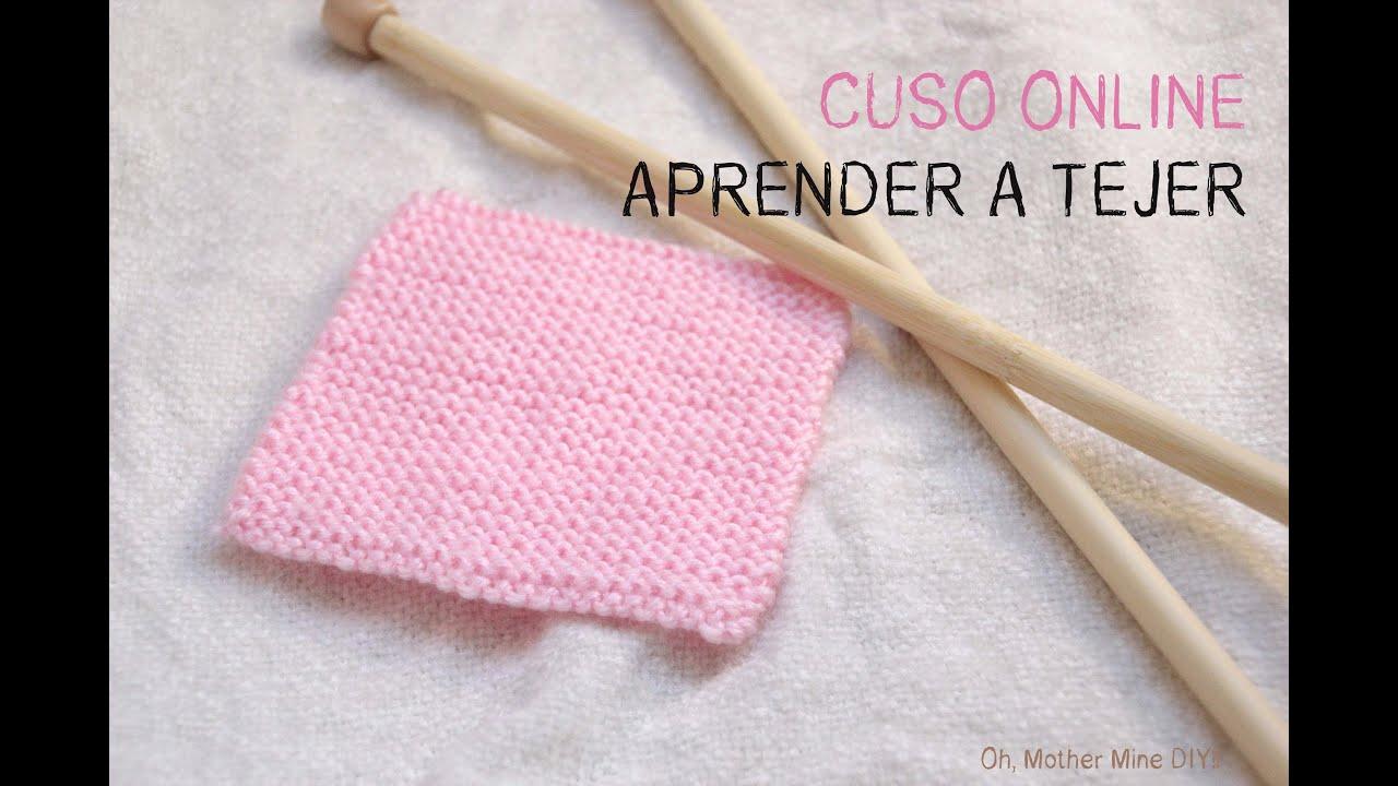 Curso online gratis aprender a tejer 5 como hacer punto - Como hacer punto de lana para principiantes ...
