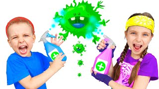 Wash hands story | Adi and Alex show how to beat germs