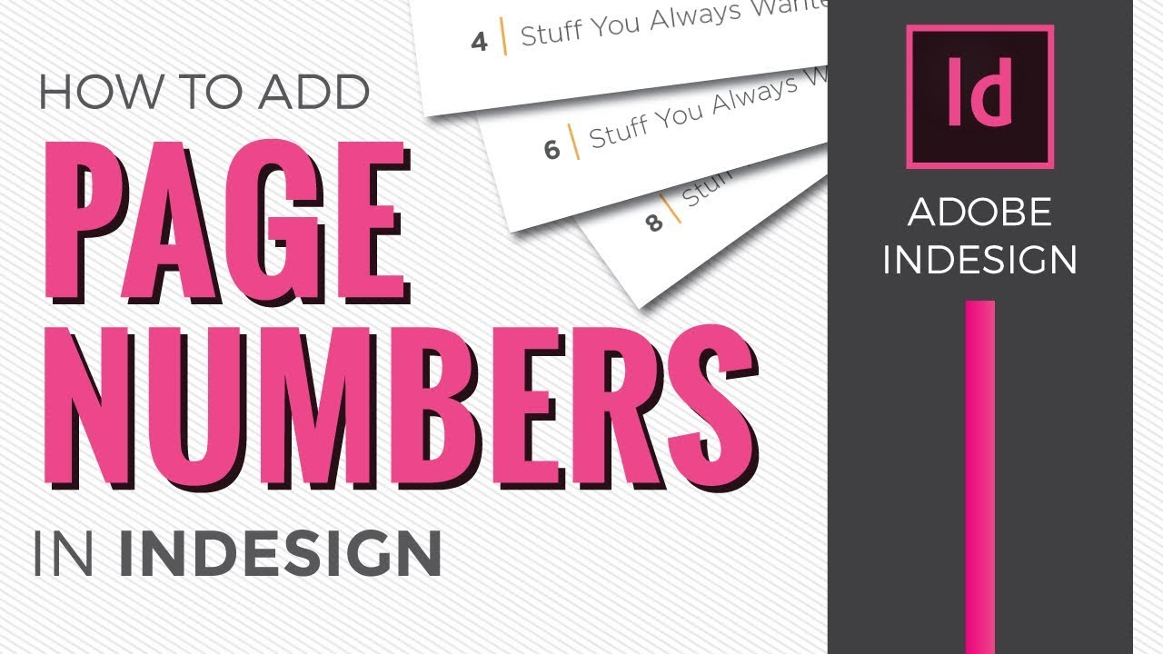 Page Numbers In InDesign CC 2018 [How To Add Using Master