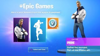 "VOICI the NEW PACK of SKIN ""APPLE"" on Fortnite! 🤩 (SAISON 8)"