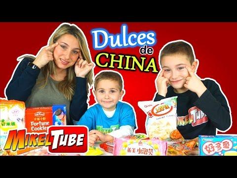 DULCES de CHINA - Probamos Chuches Orientales en Mikel Tube