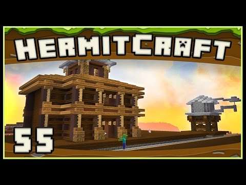 HermitCraft 4 - Minecraft:  Steam Train Station Design