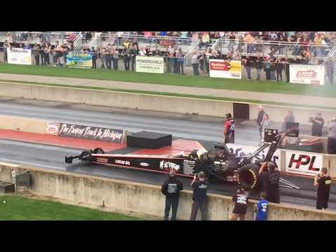 Watch: Dom Lagana's engine blows during 300 mph pass at Martin Dragway