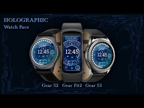 Holographic Watch Face - Animated Preview
