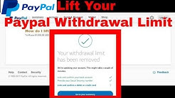 lift Your  Withdrawal Limit in My Paypal Account