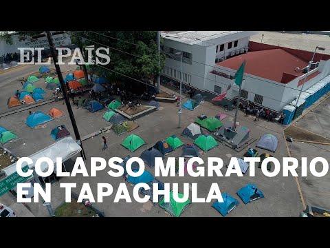 Miles de migrantes se instalan en el centro de Tapachula