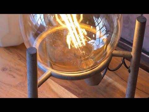 Tischlampe Jay 1-flammig Tripod altsilber
