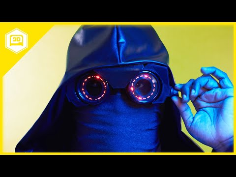 Watchmen's Sister Night NeoPixel Goggles