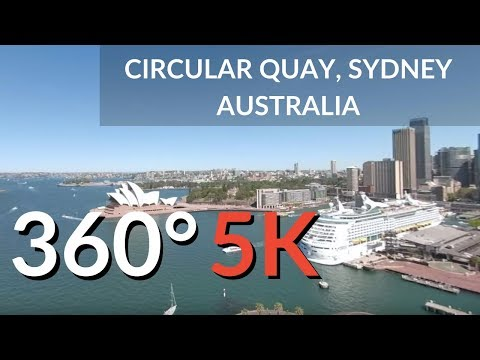 Circular Quay Harbour, Sydney Australia in 360   Virtual Reality Travel Video