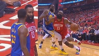 James Harden Shoves Off Draymond Green After Getting Hit In Eye Again & Exchange Words In Game 3!